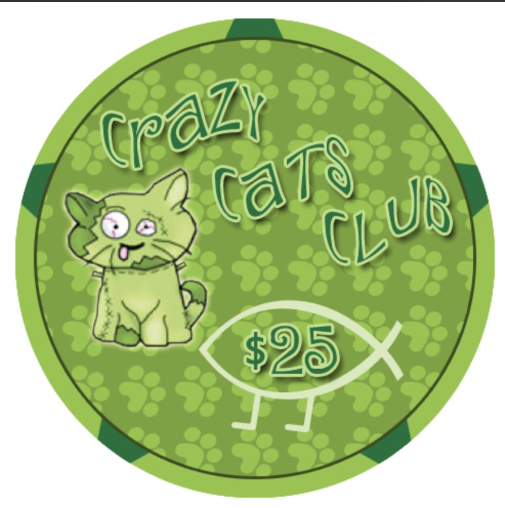Crazy cats $25